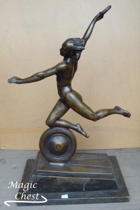 Lajos Gaady Kayser (1895 — 1983). Bronze. Sebesség. 1934