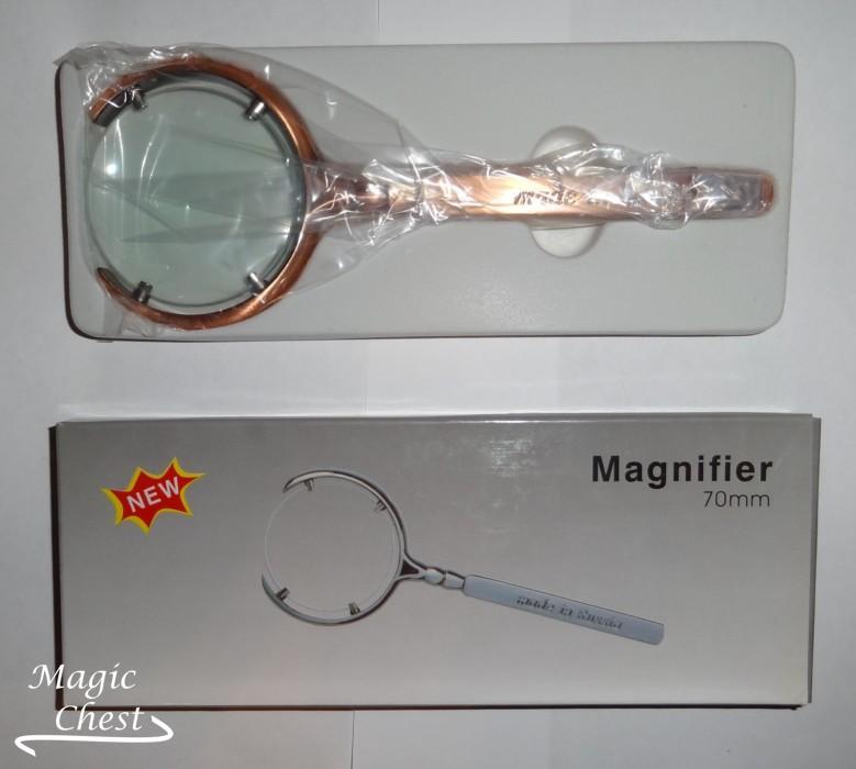 ЛУПА 6х70мм. Magnifier LOUPE медная