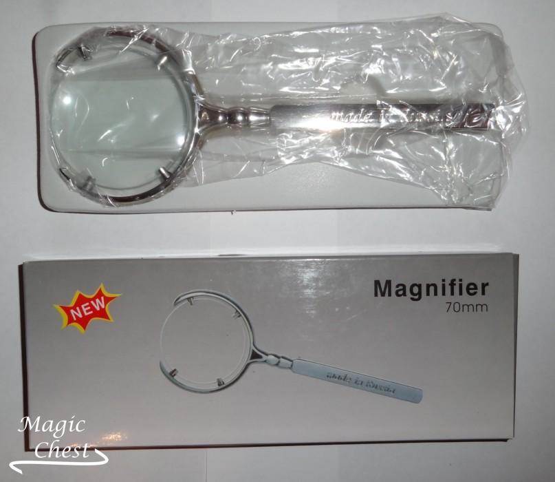 ЛУПА 6х70мм. Magnifier LOUPE серебристая