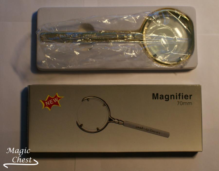 ЛУПА 6х70мм. Magnifier LOUPE золотистая