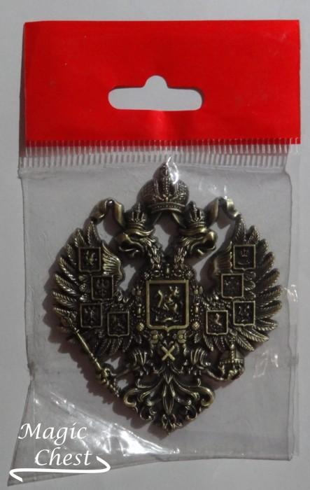 Магнит герб России, металл бронза