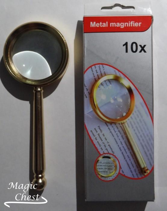 ЛУПА 4х58мм. Metal Magnifier LOUPE золотистая